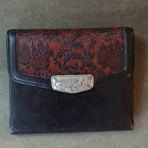 USED Brighton Tooled Leather Wallet